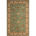 Nourison India House 5' x 8' Seafoam Rectangle Rug - Item Number: IH90 SFM 5X8
