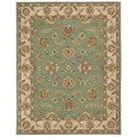 "Nourison India House 8' x 10'6"" Seafoam Rectangle Rug - Item Number: IH90 SFM 8X106"