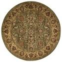 Nourison Jaipur 6' x 6' Green Round Rug - Item Number: JA12 GRE 6X6