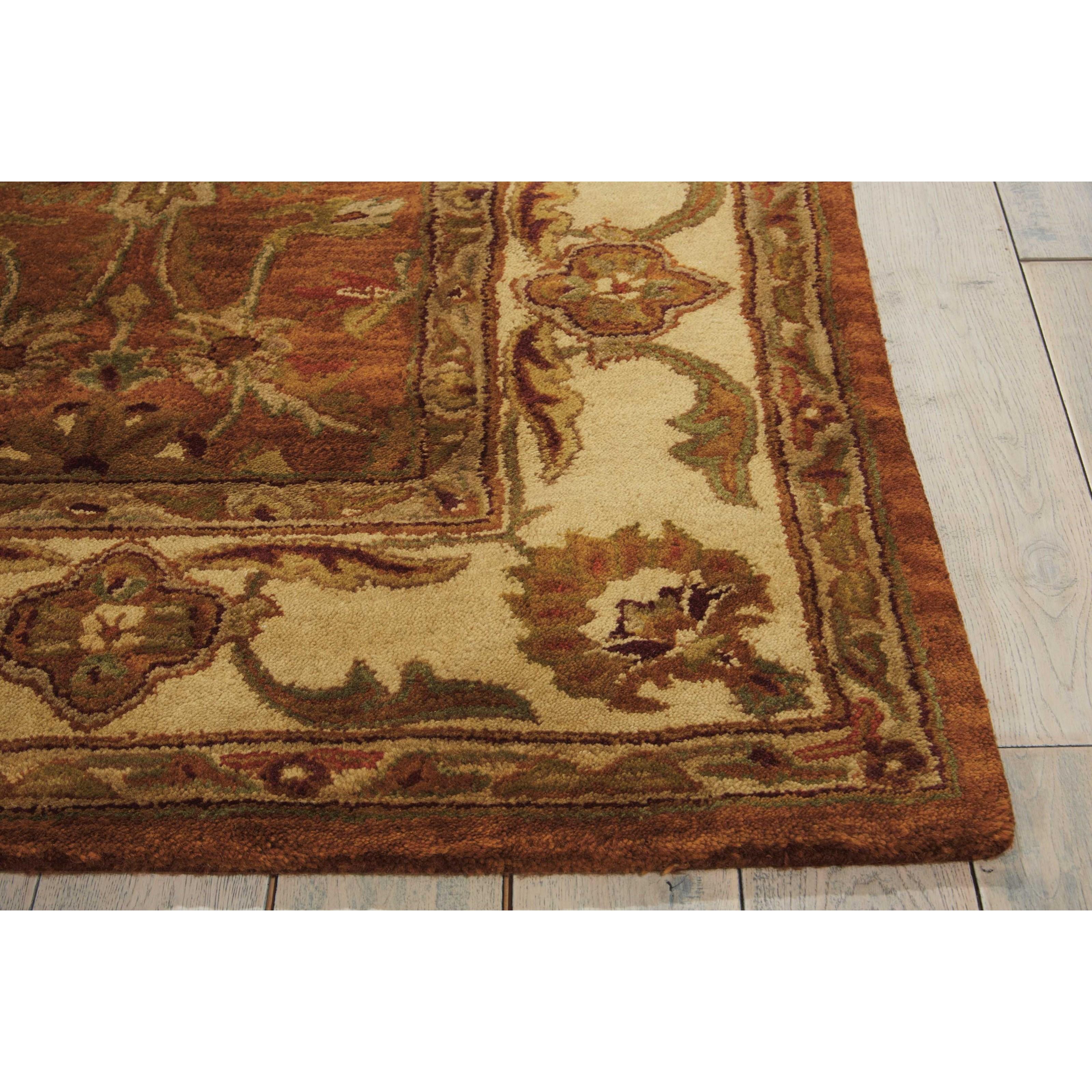 Rustic Rugs Topeka Ks: Nourison Jaipur 8' X 8' Rust Round Rug