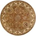 Nourison Jaipur 8' x 8' Rust Round Rug - Item Number: JA13 RUS 8X8