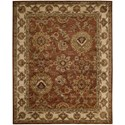 "Nourison Jaipur 9'6"" x 13'6"" Rust Rectangle Rug - Item Number: JA13 RUS 96X136"