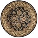 Nourison Jaipur 6' x 6' Black Round Rug - Item Number: JA15 BLK 6X6