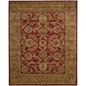 "Nourison Jaipur 8'3"" x 11'6"" Burgundy Rectangle Rug - Item Number: JA17 BUR 83X116"