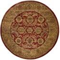 Nourison Jaipur 8' x 8' Burgundy Round Rug - Item Number: JA17 BUR 8X8
