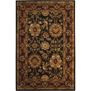 "Nourison Jaipur 5'6"" x 8'6"" Black Rectangle Rug"