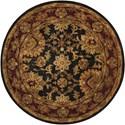 Nourison Jaipur 6' x 6' Black Round Rug - Item Number: JA18 BLK 6X6