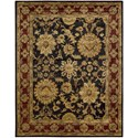 "Nourison Jaipur 7'9"" x 9'9"" Black Rectangle Rug - Item Number: JA18 BLK 79X99"