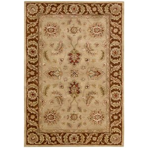 "Nourison Jaipur 3'9"" x 5'9"" Beige Rectangle Rug"