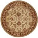 Nourison Jaipur 6' x 6' Beige Round Rug - Item Number: JA22 BGE 6X6