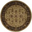 Nourison Jaipur 6' x 6' Light Gold Round Rug - Item Number: JA22 LGD 6X6