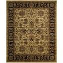 "Nourison Jaipur 7'9"" x 9'9"" Light Gold Rectangle Rug - Item Number: JA22 LGD 79X99"