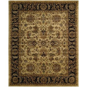 "Nourison Jaipur 9'6"" x 13'6"" Light Gold Rectangle Rug"