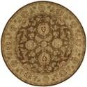 Nourison Jaipur 8' x 8' Brown Round Rug - Item Number: JA23 BRN 8X8