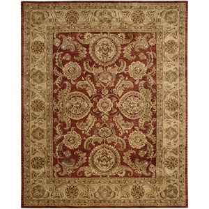 "Nourison Jaipur 5'6"" x 8'6"" Cinnamon Rectangle Rug"
