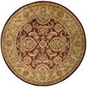 Nourison Jaipur 6' x 6' Cinnamon Round Rug - Item Number: JA24 CIN 6X6