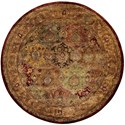 Nourison Jaipur 6' x 6' Multicolor Round Rug - Item Number: JA25 MTC 6X6