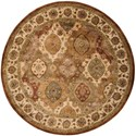 Nourison Jaipur 6' x 6' Multicolor Round Rug - Item Number: JA26 MTC 6X6