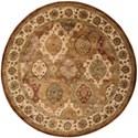 Nourison Jaipur 8' x 8' Multicolor Round Rug - Item Number: JA26 MTC 8X8