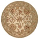 Nourison Jaipur 6' x 6' Ivory Round Rug - Item Number: JA27 IV 6X6