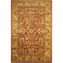 "Nourison Jaipur 5'6"" x 8'6"" Rust Rectangle Rug - Item Number: JA29 RUS 56X86"