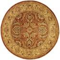 Nourison Jaipur 6' x 6' Rust Round Rug - Item Number: JA29 RUS 6X6