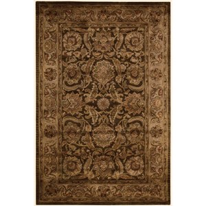 "Nourison Jaipur 3'9"" x 5'9"" Brown Rectangle Rug"