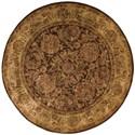 Nourison Jaipur 6' x 6' Brown Round Rug - Item Number: JA30 BRN 6X6