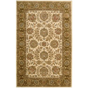 "5'6"" x 8'6"" Ivory/Brown Rectangle Rug"