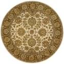 Nourison Jaipur 8' x 8' Ivory/Brown Round Rug - Item Number: JA31 IBN 8X8