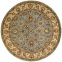 Nourison Jaipur 6' x 6' Light Blue Round Rug - Item Number: JA32 LTB 6X6