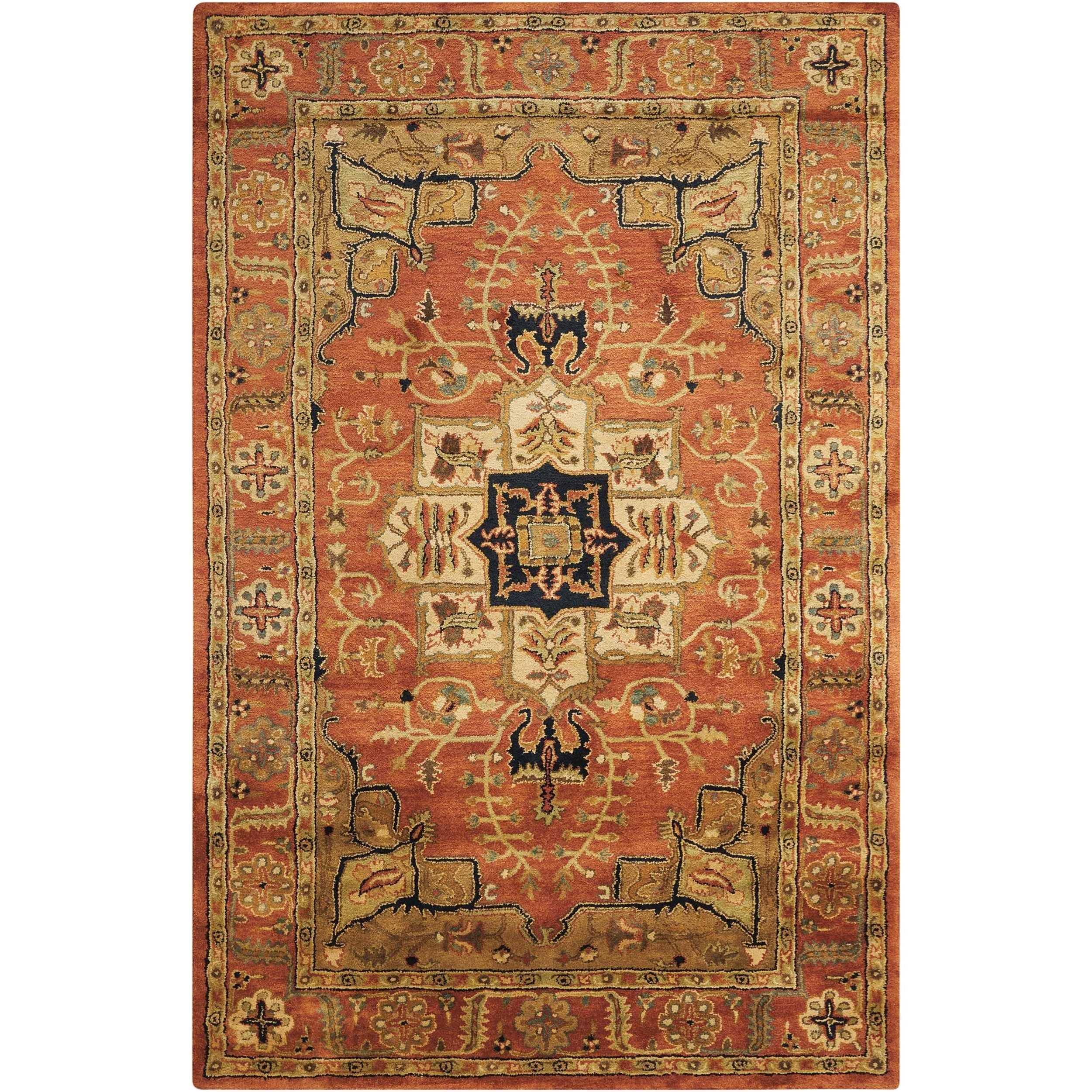"5'6"" x 8'6"" Brick Rectangle Rug"