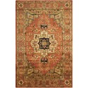 "Nourison Jaipur 5'6"" x 8'6"" Brick Rectangle Rug - Item Number: JA33 BRK 56X86"