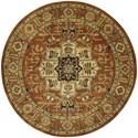 Nourison Jaipur 6' x 6' Brick Round Rug - Item Number: JA33 BRK 6X6