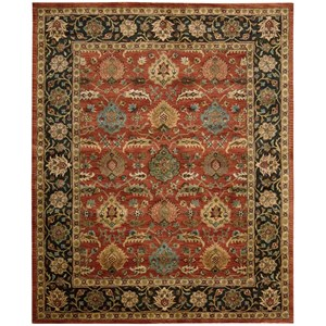 "Nourison Jaipur 8'3"" x 11'6"" Brick Rectangle Rug"