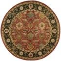 Nourison Jaipur 8' x 8' Brick Round Rug - Item Number: JA35 BRK 8X8