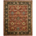 "Nourison Jaipur 9'6"" x 13'6"" Brick Rectangle Rug - Item Number: JA35 BRK 96X136"