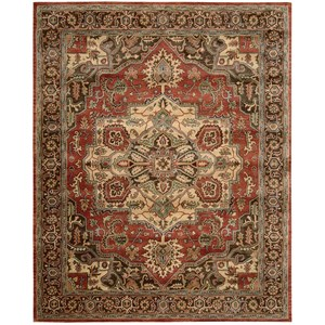 "Nourison Jaipur 7'9"" x 9'9"" Red Rectangle Rug"