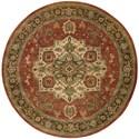Nourison Jaipur 8' x 8' Red Round Rug - Item Number: JA36 RED 8X8