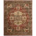 "Nourison Jaipur 9'6"" x 13'6"" Red Rectangle Rug - Item Number: JA36 RED 96X136"