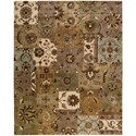 "Nourison Jaipur 8'3"" x 11'6"" Lt Multi Rectangle Rug - Item Number: JA37 LMT 83X116"
