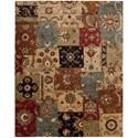 "Nourison Jaipur 8'3"" x 11'6"" Multicolor Rectangle Rug - Item Number: JA37 MTC 83X116"