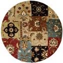 Nourison Jaipur 8' x 8' Multicolor Round Rug - Item Number: JA37 MTC 8X8