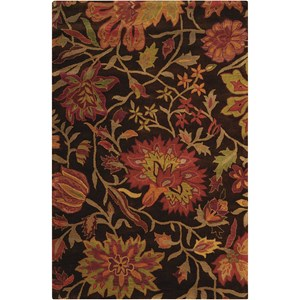 "Nourison Jaipur 3'9"" x 5'9"" Chocolate Rectangle Rug"