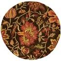 Nourison Jaipur 6' x 6' Chocolate Round Rug - Item Number: JA41 CHO 6X6