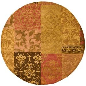 6' x 6' Multicolor Round Rug