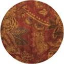 Nourison Jaipur 6' x 6' Flame Round Rug - Item Number: JA43 FLA 6X6