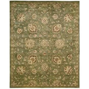 "8'3"" x 11'6"" Green Rectangle Rug"