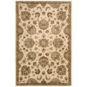 "Nourison Jaipur 3'9"" x 5'9"" Ivory Rectangle Rug - Item Number: JA47 IV 39X59"