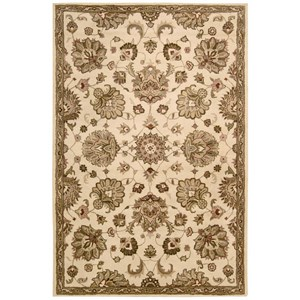 "Nourison Jaipur 5'6"" x 8'6"" Ivory Rectangle Rug"